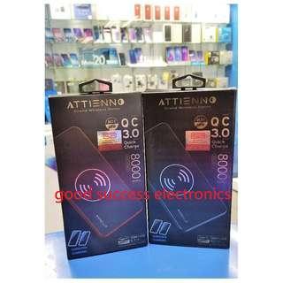 ATTIENNO Grand Wireless Series Wireless + QC Power Bank 8000mAh 全新香港行貨 原廠1年保養