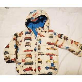 🈹3 to 4 years cotton jacket with cars 車車棉質中褸