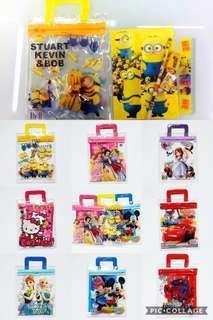 Xmas PROMO CARTOON stationery set - goodie bag