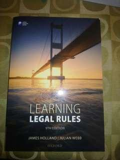 Holland and Webb (LSM) Learning Legal Rules 9th ed