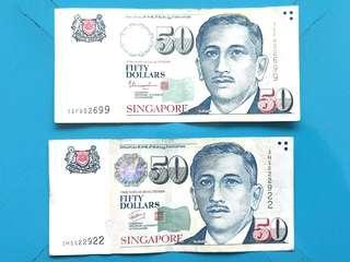 Singapore dollars $50