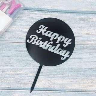 """**INSTOCKS** """"Happy Birthday"""" Cake Toppers for sale!"""