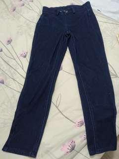 🚚 Uniqlo cropped denim leggings pants