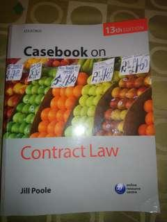 Contract Law Casebook - Jill Poole