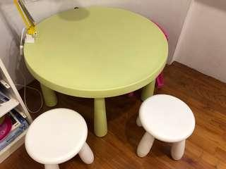 IKEA Mammut Children Table and Chairs