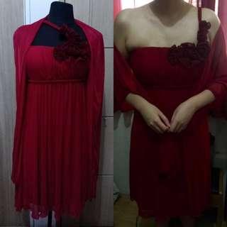 Elegant Red Cocktail Dress
