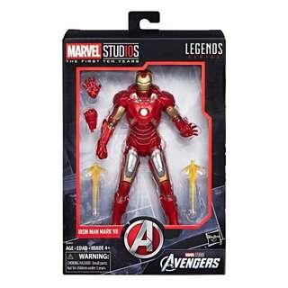 Marvel Legends  (漫威傳奇) Marvel Studios The First Ten Years: Avengers Iron Man Mark VII 漫威影業10年系列 復仇者聯盟 鐡甲奇俠 Mark 7