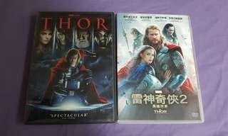 DVD 雷神奇俠1&2