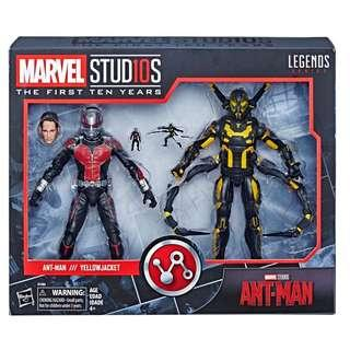 "Marvel Legends  (漫威傳奇) Marvel Studios The First Ten Years: Antman ""Antman & Yellowjacket"" 漫威影業10年系列 蟻俠電影 蟻俠及黃蜂戰士"