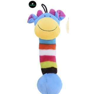 🚚 Giraffe Pet Dog Squeak Plush Toy