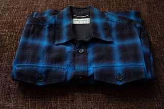 FW15 Saint Laurent Shadow Blue Flannel