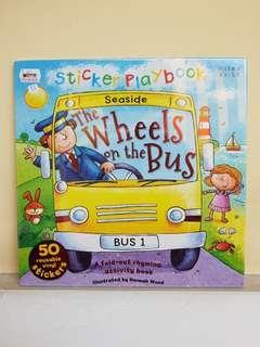 BUKU ACTIVITY STICKER ANAK : Wheels on The Bus