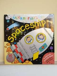 BUKU ACITIVITY STICKER ANAK : Spaceship