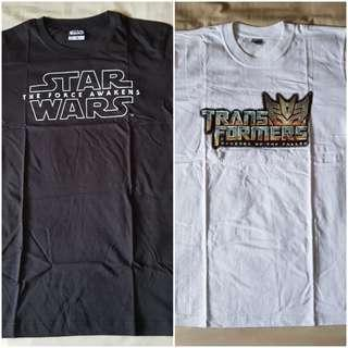 STAR WARS & TRANSFORMERS COTTON T-SHIRT (Brand New)