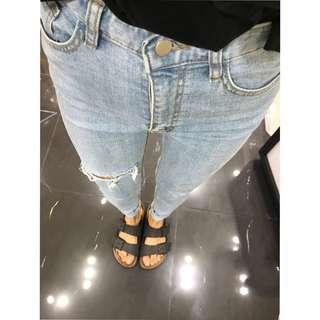 🚚 正韓 高腰窄管牛仔褲