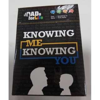 """BNIB Dads For Life """"Knowing Me Knowing You"""" Card Game"""