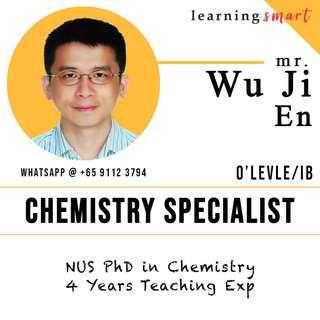 Chemistry tuition by NUS PhD O level , IGCSE