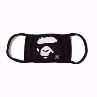 Bathing Ape Face Black Dust Mask