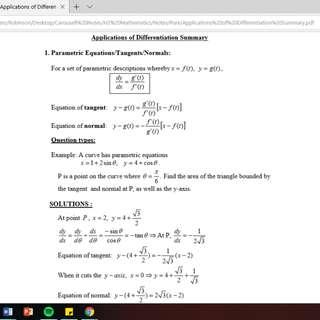 🚚 H2 Math Quick Notes (ALL topics) Mathematics