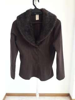 Top with Faux Fur Collar 8#MY1212