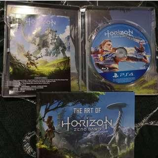 Horizon Zero Dawn (HZD) Collectors Edition items -  Steelbook+Game+Artbook