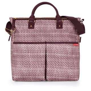 Skip Hop Duo Special Edition Diaper Bag - Purple Plum Sketch #MY1212