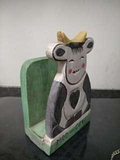 Cow book end