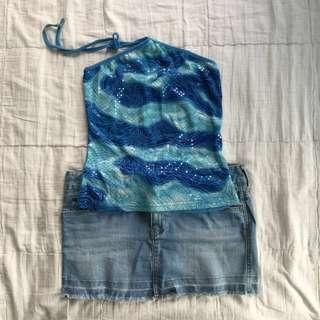 Small Halter Mermaid-inspired top