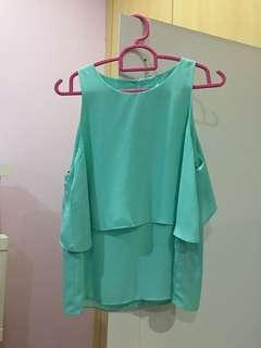 Forever 21 layered blue blouse