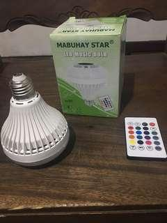 LED Music Bulb with Bluetooth Speaker