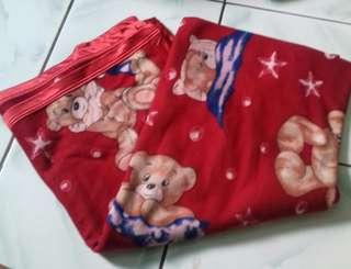 Selimut taddy bear