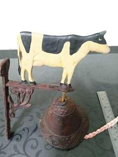 Cast iron Bell with cow