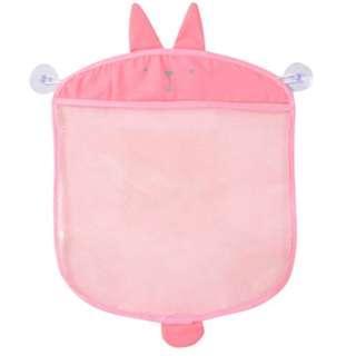 🚚 Bath Toys & Toiletries Pouch Storage Net Mesh Bag - Pink Rabbit