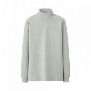 UNIQLO Men Cotton Mockneck Long Sleeve (Gray L)