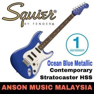 Squier Contemporary Stratocaster HSS Electric Guitar, Ocean Blue Metallic