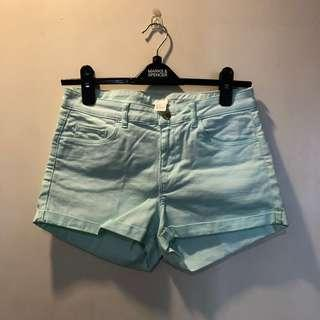 H&M light blue shorts