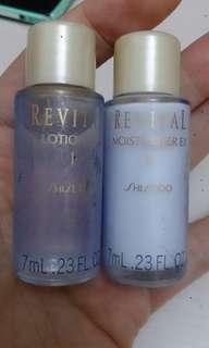 """""抵""""Shiseido revital lotion 7ml  and moisture 7ml"