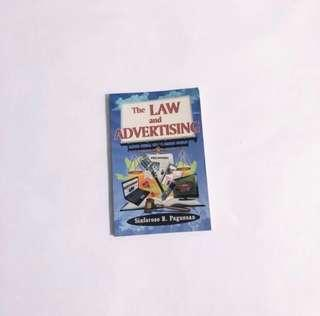 The Law and Advertising Book by Sinforoso R. Pagunsan