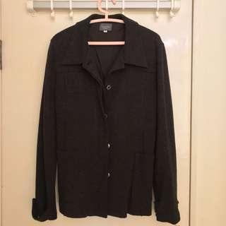 Grey Black Blazer Jacket Made in Italy