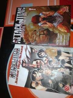 Comics attack on titan before the fall & attack on titan junior high school