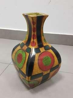 Cute Yellow Dot Patterned Vase