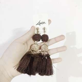 Lovisa Brown Tassel Earrings