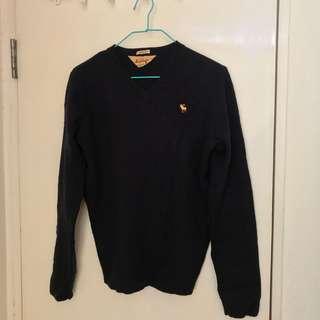 Abercrombie Dark Navy Vintage Sweater