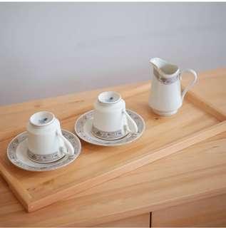 Wooden tray (nampan kayu) size L
