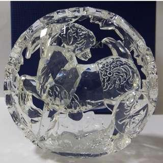 SWAROVSKI SILVER CRYSTAL CHINESE ZODIAC SHEEP OR RAM/GOAT  #5136781