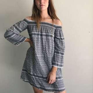 ROUGH LOVE OFF SHOULDER DRESS (RRP $300)
