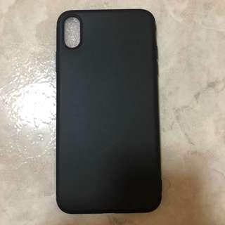 [brand new] matte black iphone xs max phone cover / case