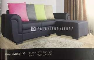 3-Seater Sofa with a stool