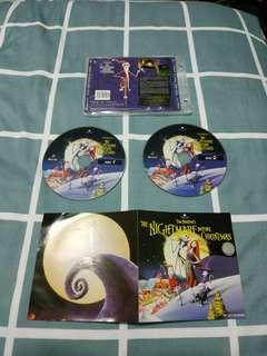 1 x used Nightmare before Christmas VCD with free delivery