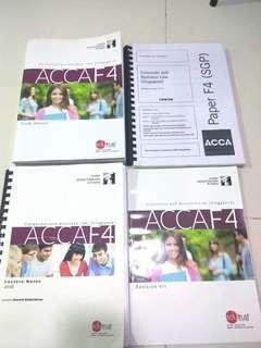 LSBF ACCA F4 2018 SGP Study Manual + Lecture Notes + Revision Kit